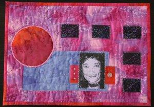 Quilt retrato de patwchork con impresion de foto sobre tela