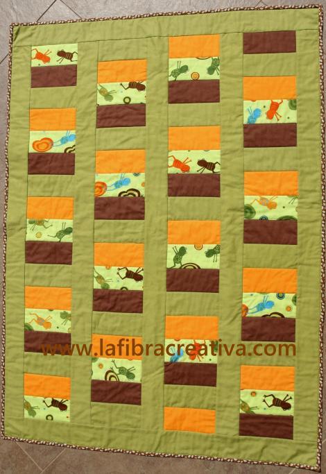patrón patchwork fácil para niños con ranas
