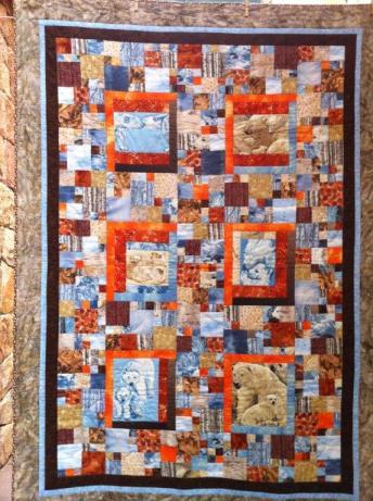 Colcha de patchwork osos Cambrils 2011