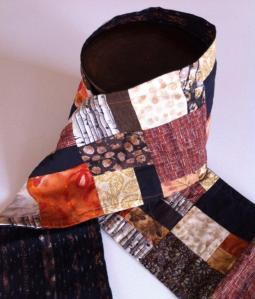 bufanda de patchwork colores de otoño