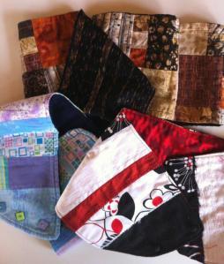 bufandas y cuellos de patchwork para regalo