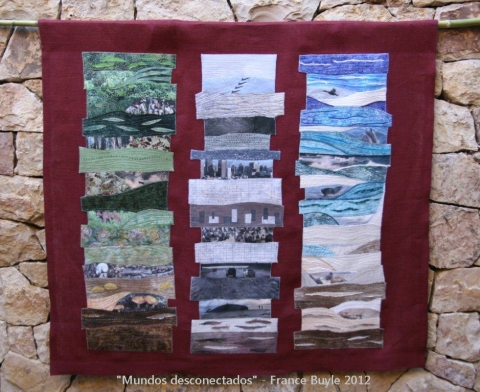 "Art Quilt Sitges 2012 ""Mundos Desconectados"" France Buyle"