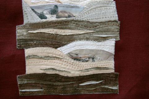 Art Quilt avec photos imprimées sur tissu
