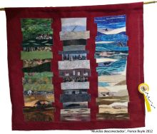 art quilt premiado segundo premio contemporáneo festival de Sitges 2012