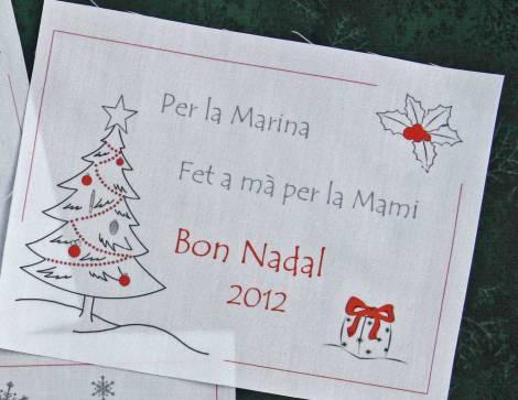 etiqueta per quilt personalitzada Nadal Navidad