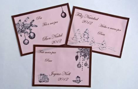 etiquetas para quilt navidad tradicional etiquettes pour quilt