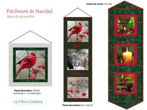ideas de patchwork para Navidad original