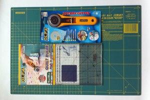 Material de corte para patchwork