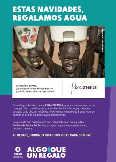 tarjeta navidad Intermón Oxfam Fibra Creativa