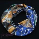 Fular circular de seda Gaudí trencadís