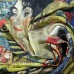 """Pañuelo de seda Klimt """"Dama con abanico"""""""